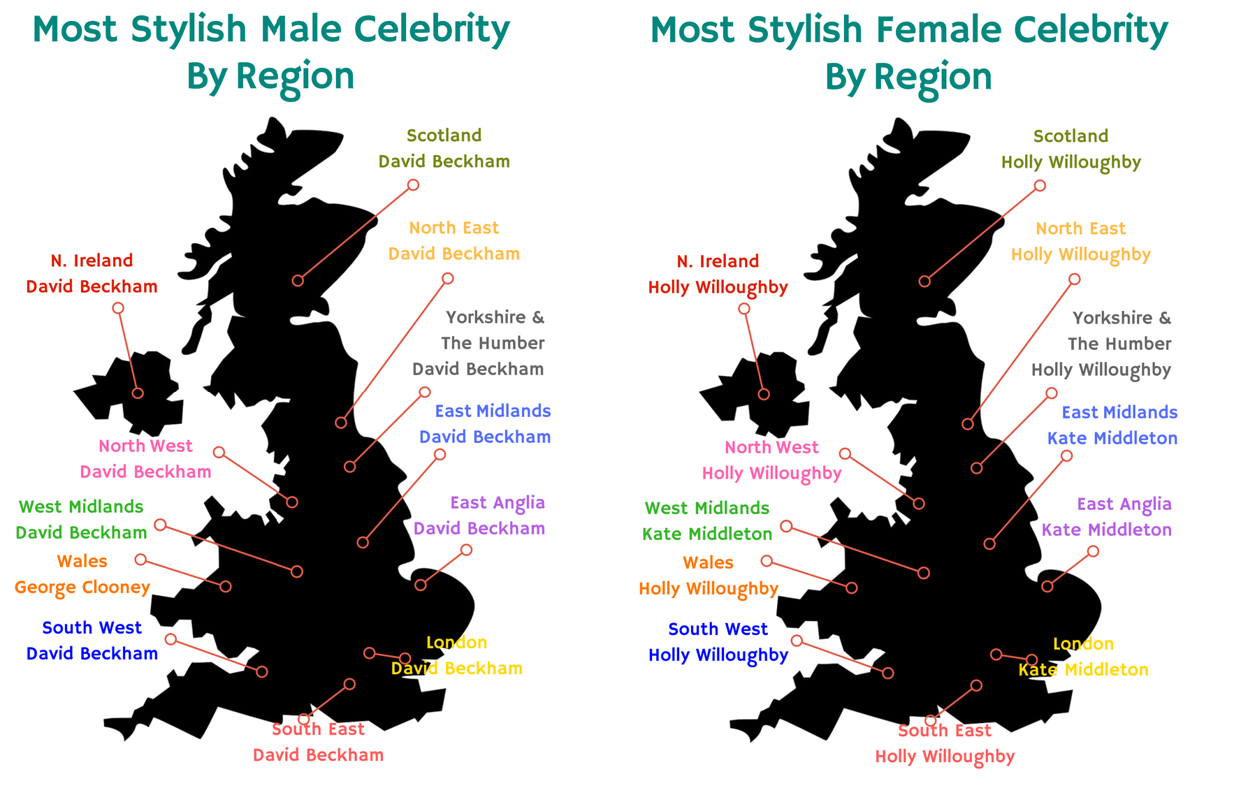 most stylish by region celebs