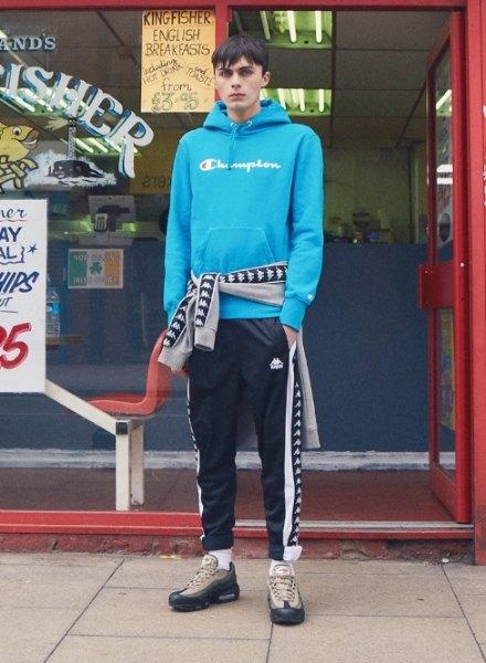 men's champion hoodie kappa pants