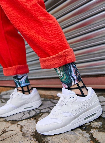 triple white Nike Air Max 1