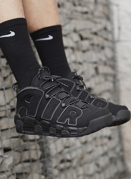 Nike Air More Uptempo in black