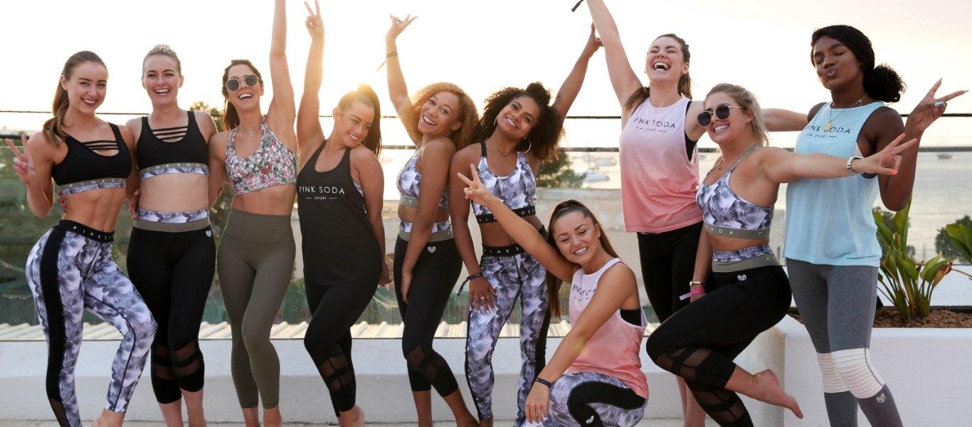 beach Ibiza yoga pink soda