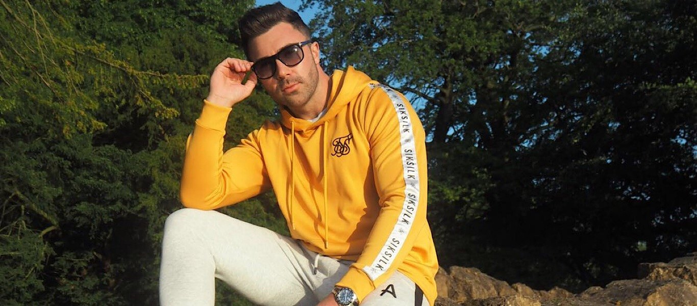 James Tindale in SikSilk hoodie
