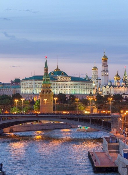 Moscow Russia for summer holidays