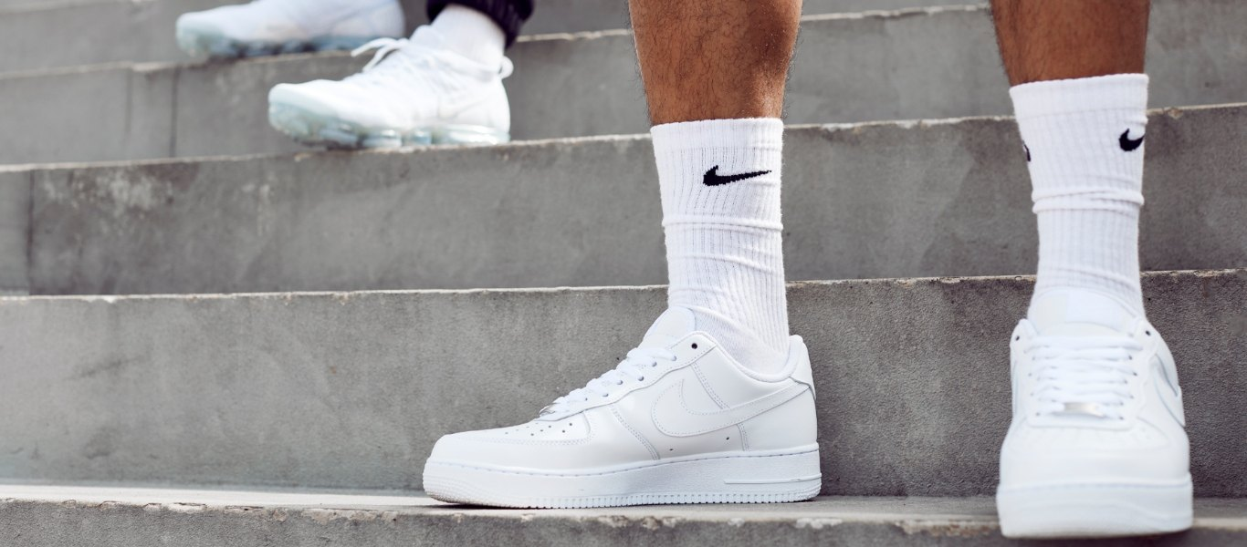 white footwear air force 1