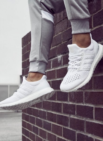 Ultra Boost adidas white footwear