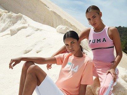 pink PUMA bodysuit