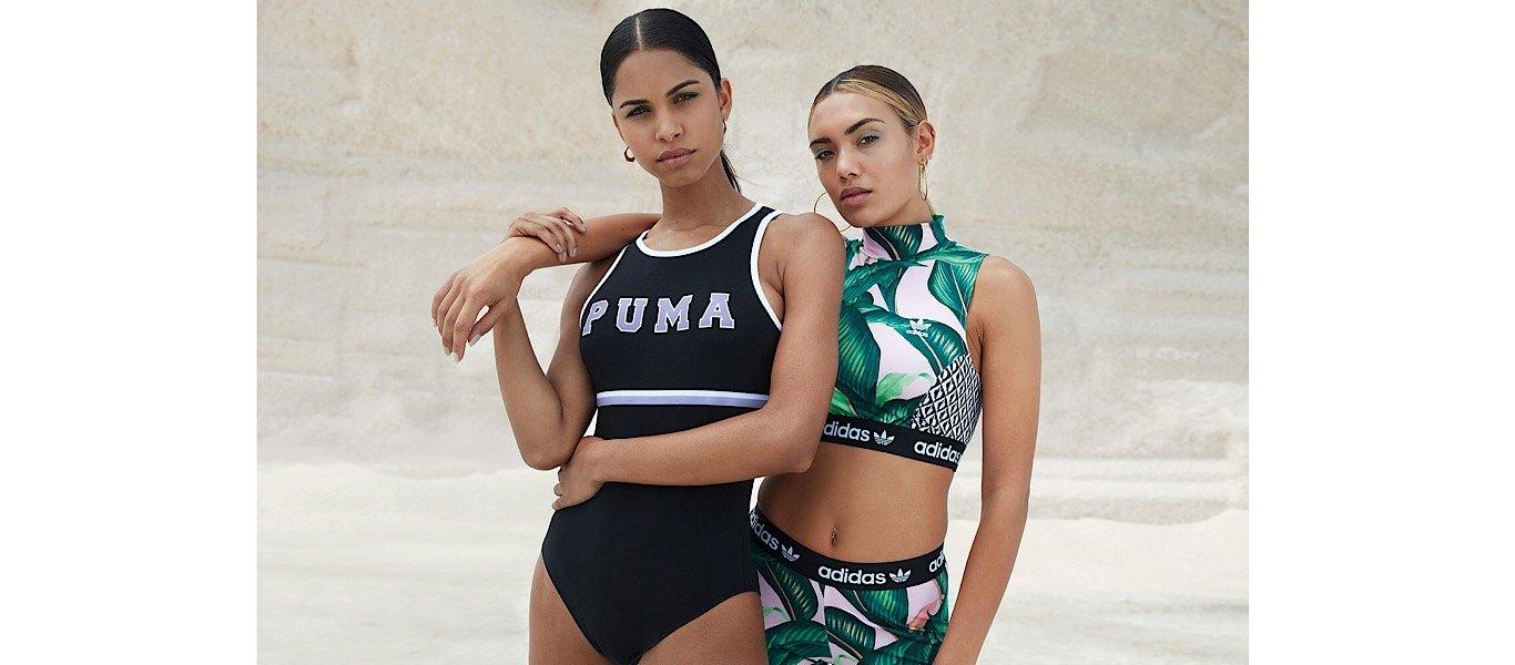 black PUMA bodysuit