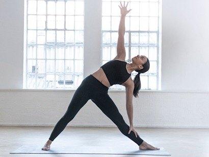 indoor autumn yoga