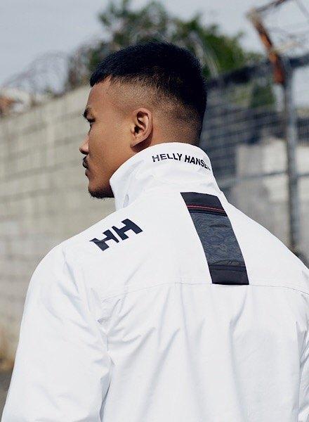 white helly hansen jacket