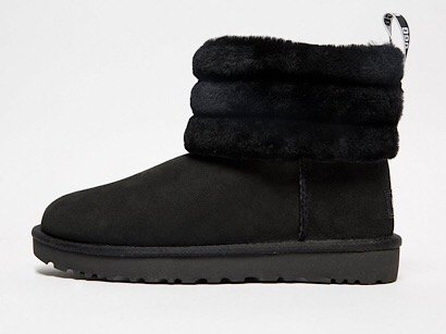 fluff mini quilted logo boots black