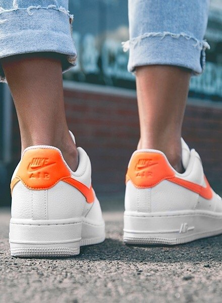 white/orange air force 1