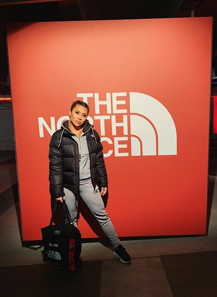Beckie Hughes in The North Face