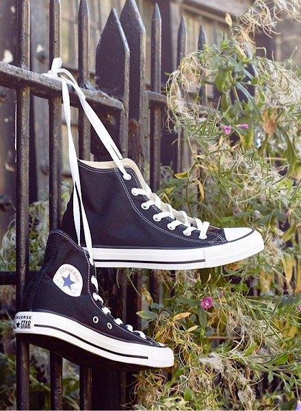 black converse all star hi tops