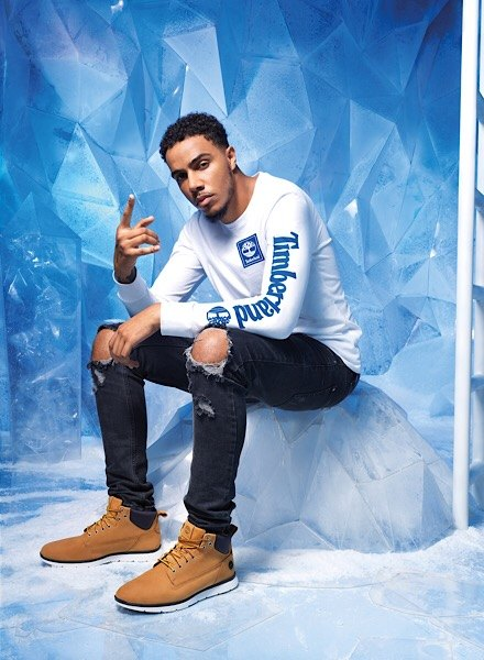 AJ Tracey in Timberland