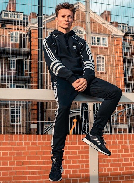 Jack Downer in adidas Originals Tracksuit