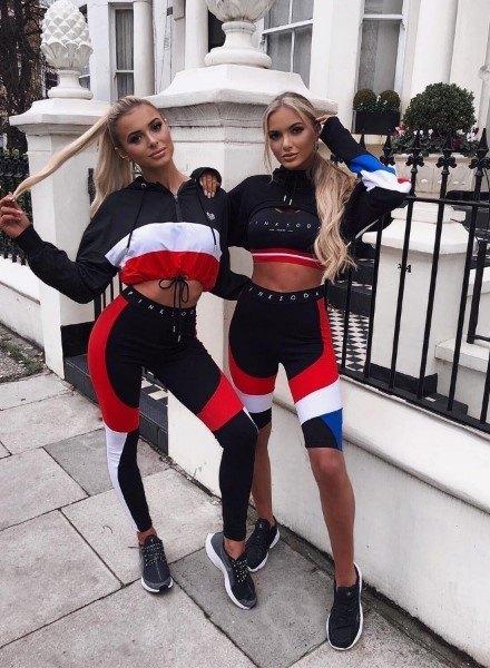 sisters in pink soda sport