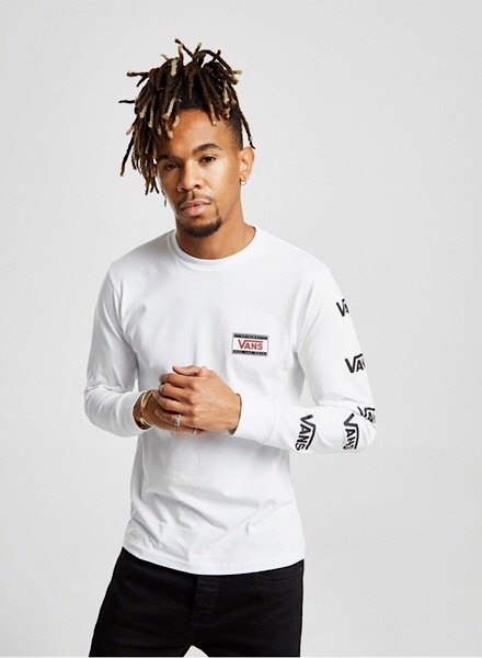 Vans repeat branding long sleeve t-shirt