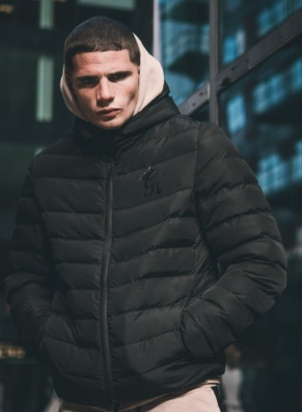 gym king padded jacket black
