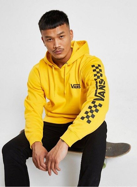 Vans yellow checker board hoodie