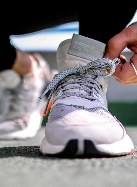 grey;/orange nite jogger