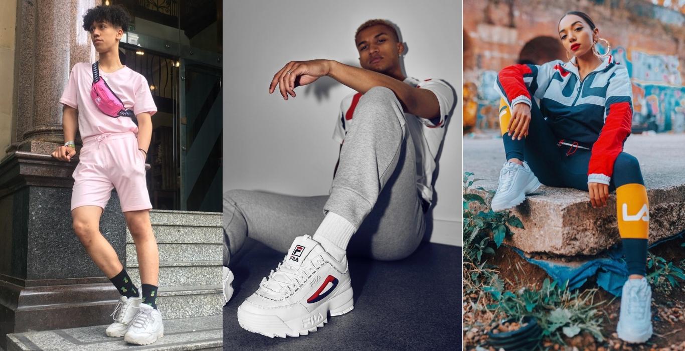 Influencers com sapatilhas chunky