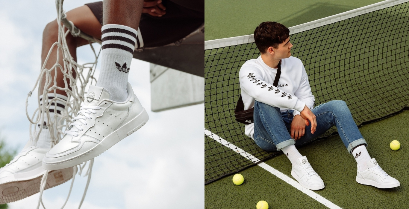 triple white adidas supercout