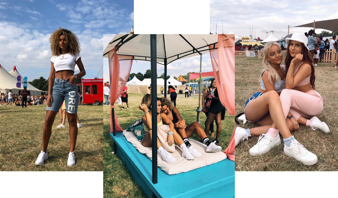 influencers at lovebox festival
