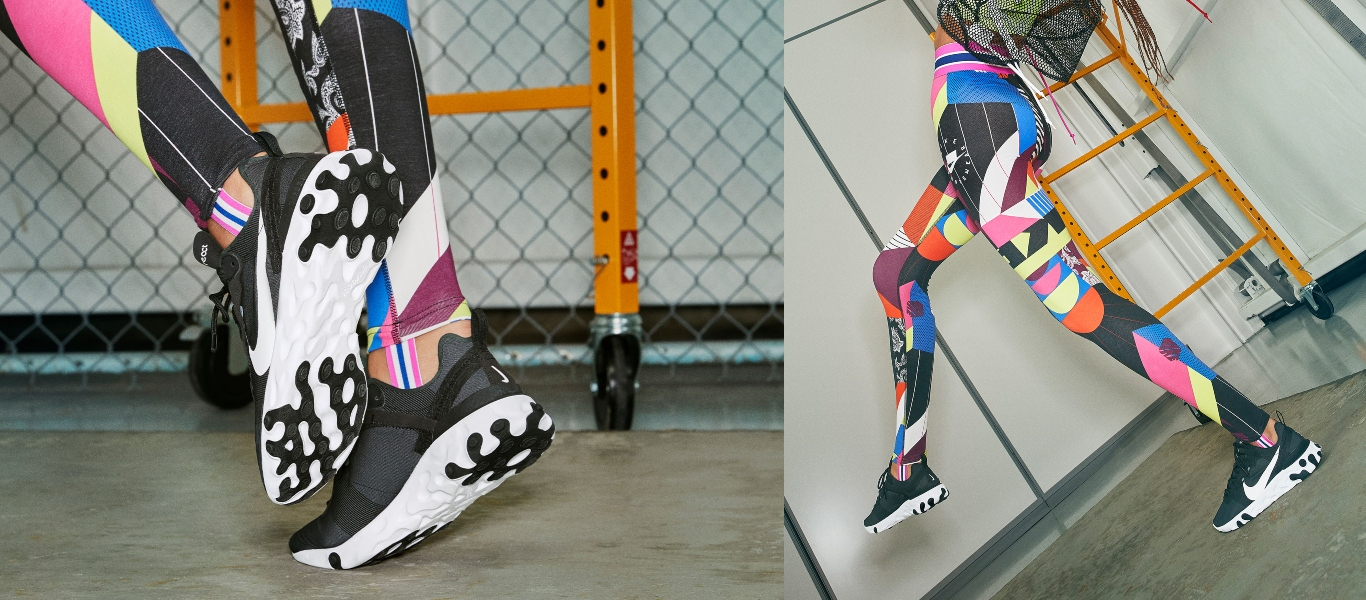 Nike React Element 55 com têxtil
