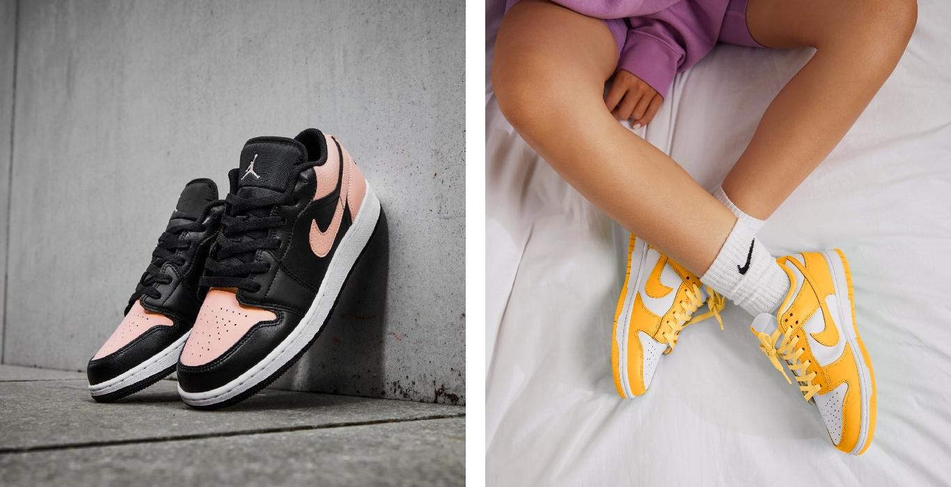 Air Jordan 1 Low y Nike Dunk Low