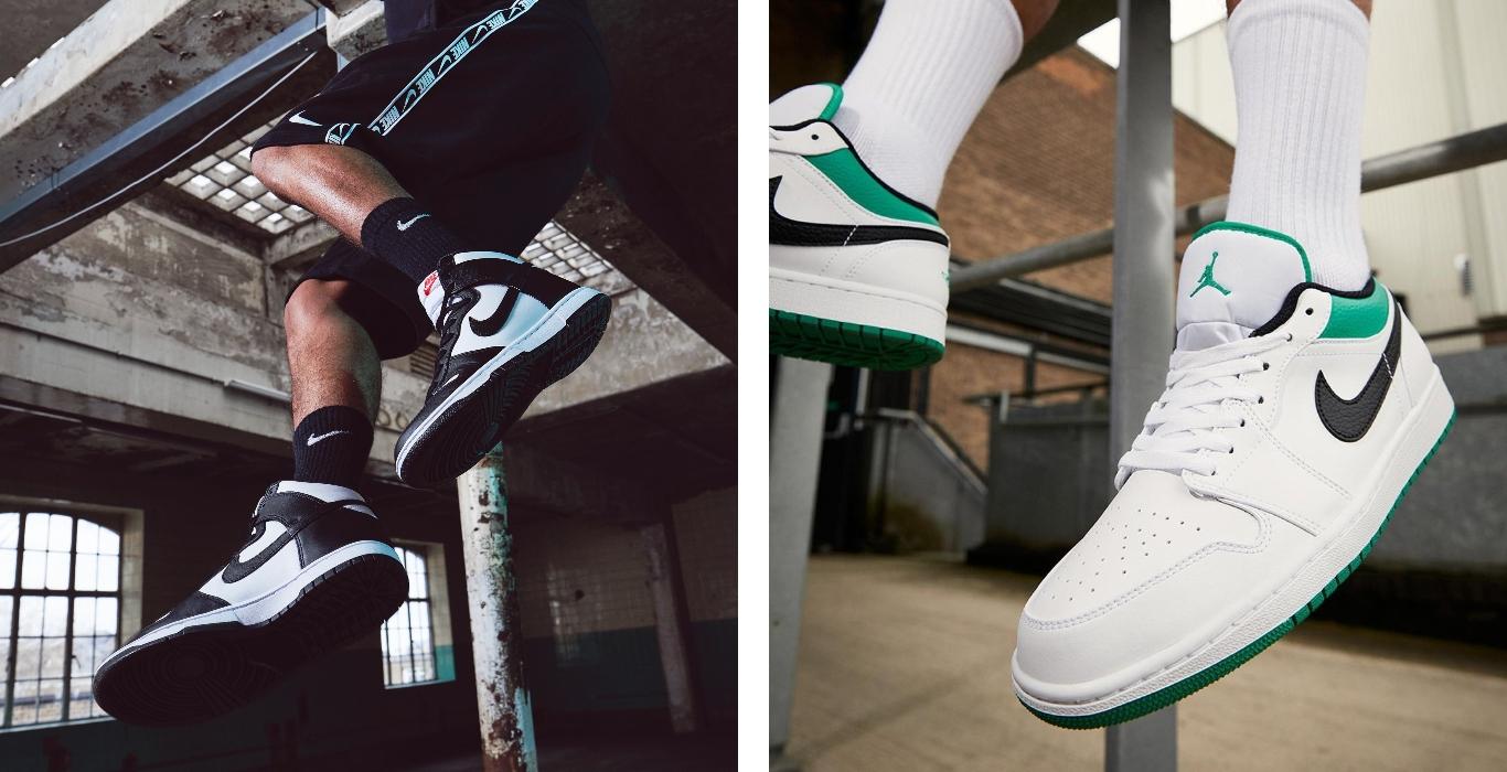 Nike Dunk High y Air Jordan 1 Low