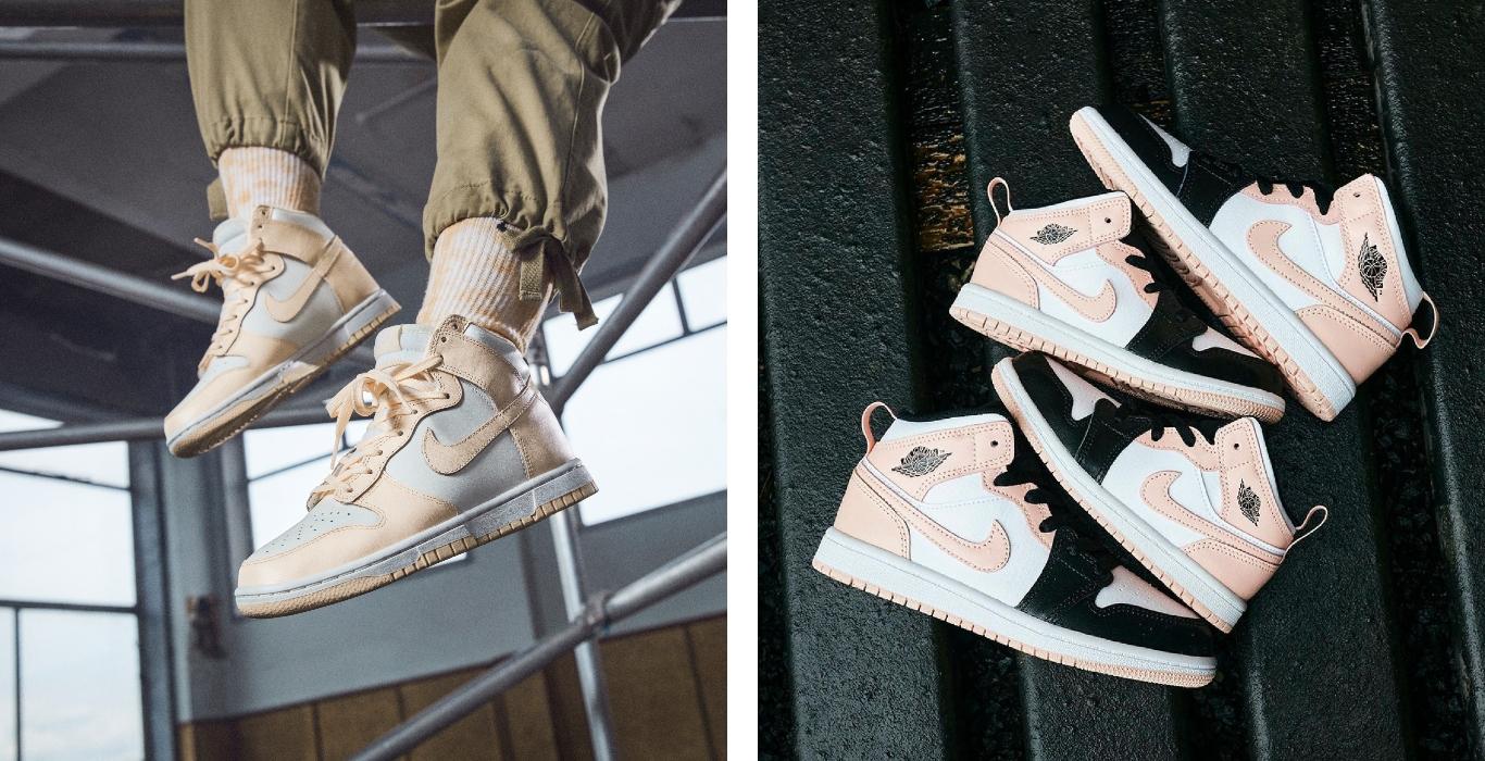 Nike Dunk High y Air Jordan 1 Mid